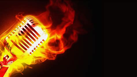 background music music musician images flaming microphone hd wallpaper and
