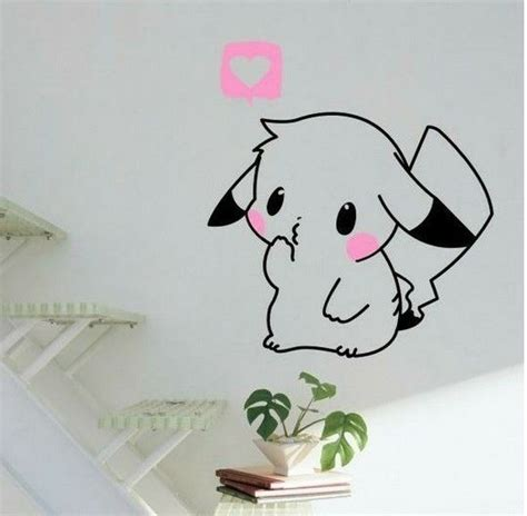 pokemon wall decal cute pikachu removable home decor