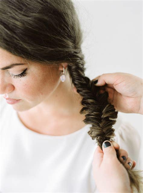 Wedding Hair Braid Tutorial by Hair Tutorial The Fishbone Braid2 Brides Photography