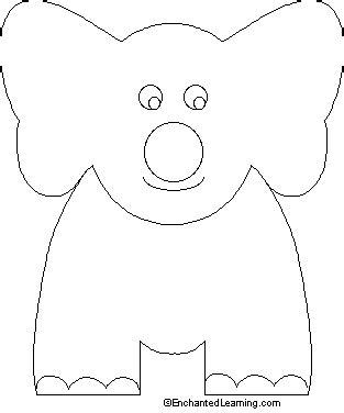 elephant craft template finger puppet elephant enchantedlearning