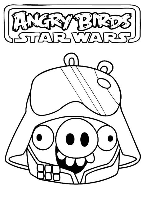 Angry Birds Wars 2 Coloring Pages Darth Maul by Angry Bird Wars Coloring Pages Darth Vader