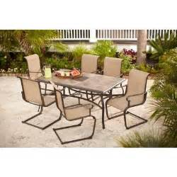 Home Depot Patio Tables Hton Bay Belleville 7 Patio Dining Set Fcs80198st The Home Depot