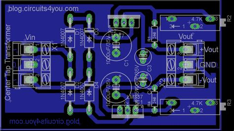 Layout Pcb Power Supply | dual adjustable dc power supply circuits4you com