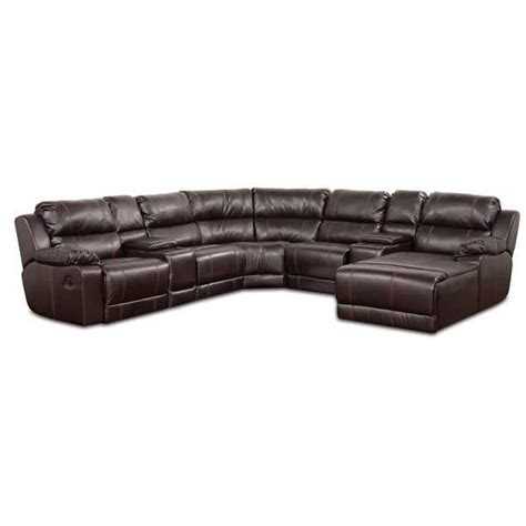 leather motion sectional brown bonded leather motion sectional 1p 212 7pc