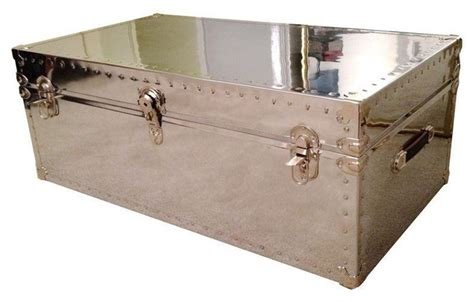 Custom Aviator Mirrored Trunk Coffee Table Modern Trunk Coffee Table