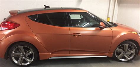 hyundai veloster turbo matte black matte copper hyundai veloster turbo