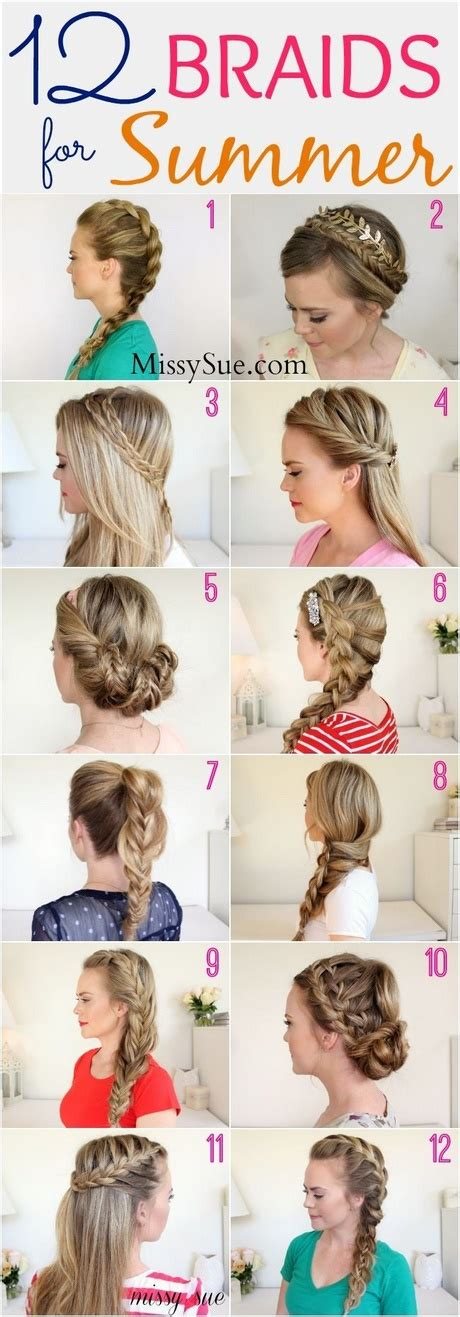 hairstyles for summer school cute summer hairstyles for medium length hair