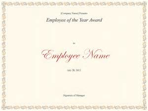 award certificates templates office 2007 employee of the year award free certificate