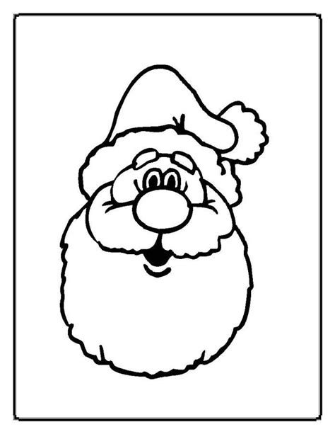 coloring pages father christmas santa claus face coloring pages coloring home