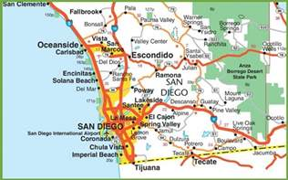 Maps Of San Diego by San Diego Area Map