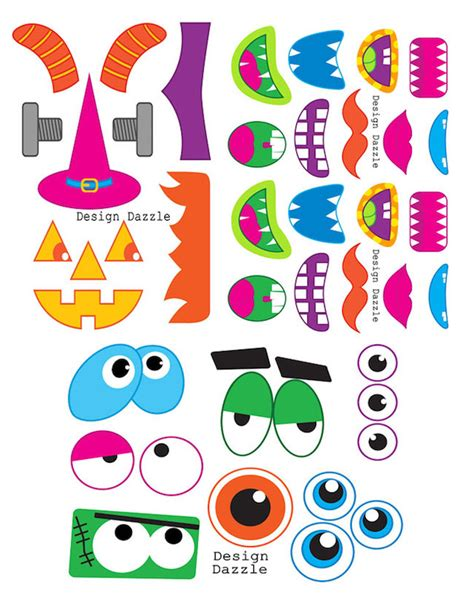 free printable monster photo booth props diy photo booth props the ultimate list