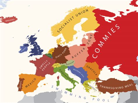 usa maps view a map of how americans view europe the american catholic