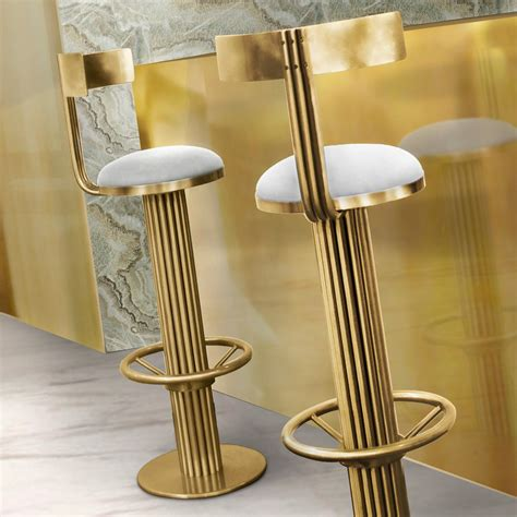 luxury bar stools luxury mid century gold modern bar stool juliettes interiors