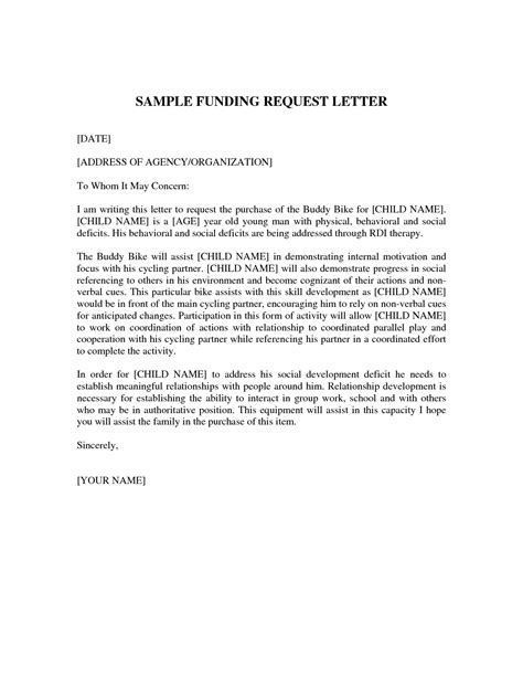 sle cover letter for funding application letter asking for funding conference funding request