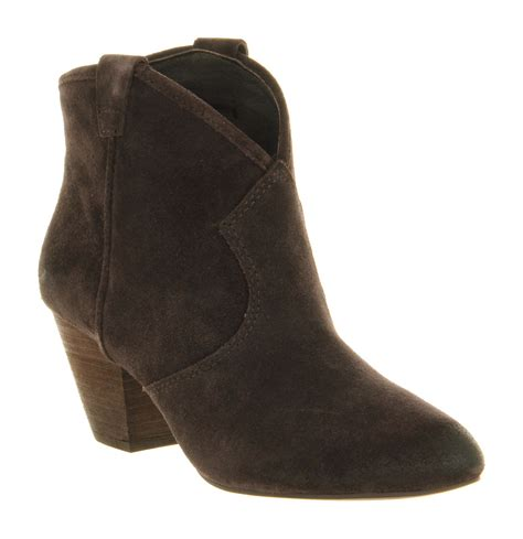 womens ash jalouse boot wood ash suede boots
