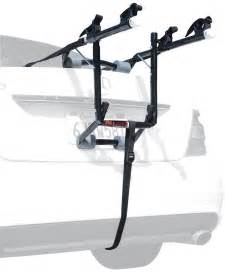 new 2 cycle trunk rack rear mount two bikes carrier car