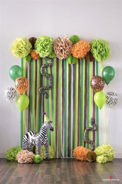Decoration Theme Jungle by Jungle Birthday Ideas Inspiration