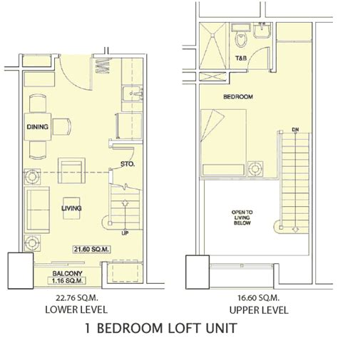 1 bedroom with loft floor plans one bedroom with loft plans house and home living room