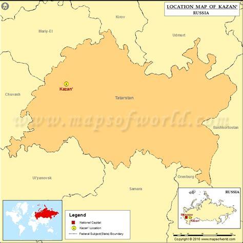 maps kazan russia where is kazan location of kazan in russia map