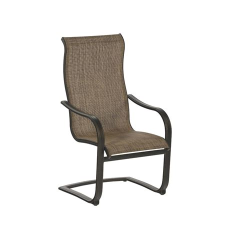 Slingback Patio Chairs Shop Allen Roth Set Of 6 Tenbrook Sling Seat Aluminum Patio Dining Chairs At Lowes