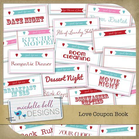 printable love coupon book cover make the best of your nest valentine coupon book free