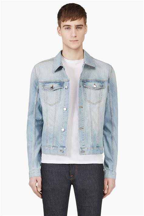 light jean jacket mens blk dnm light blue faded denim jacket in blue for men lyst