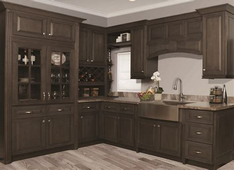 Stained Kitchen Cabinets Kitchen Cabinets Gray Stain Quicua