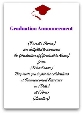 Mba Graduation Announcements Cards by Graduation Announcement Wording