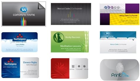 business card templates free vector in adobe illustrator