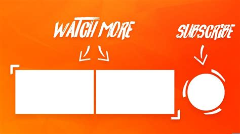 End Screens And Cards Template by How To Make A Clean Outro End Screen Template On