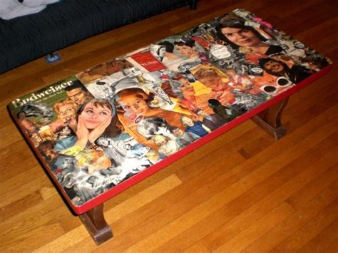 Decoupage Coffee Table - pin by shana guzman on craft ideas