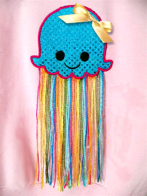 embroidery and applique designs jellyfish applique embroidery design sofontsy
