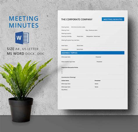 sample of minutes of meeting fresh template sample minutes meeting