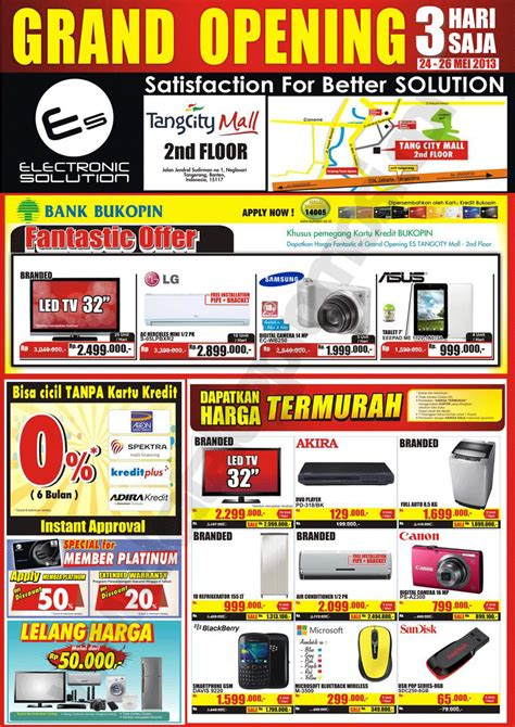 Juicer Di Electronic Solution promo grand opening electronic solution di tangcity mall