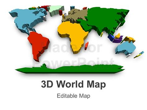 World Map Template Powerpoint Www Imgkid Com The Image Powerpoint World Map Editable