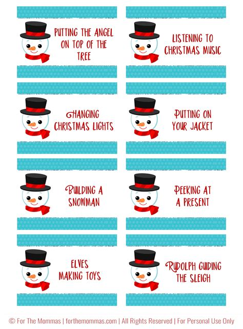 4 best images of christmas charades free printable 101 deals of christmas today s deal ftm