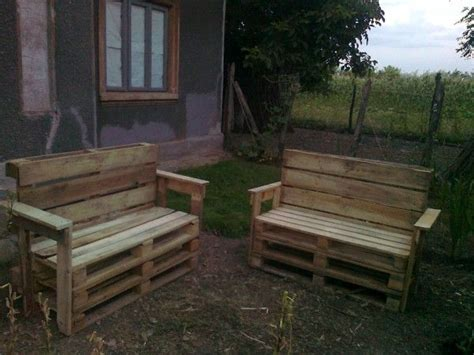 rustic benches from reclaimed pallets 1001 pallets pin by recyclart on 1001 pallets recycled upcycled