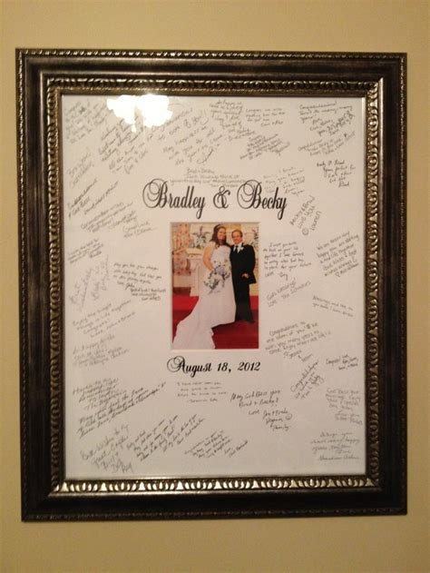 wedding guest book picture frame wedding guest book alternative signature picture frame
