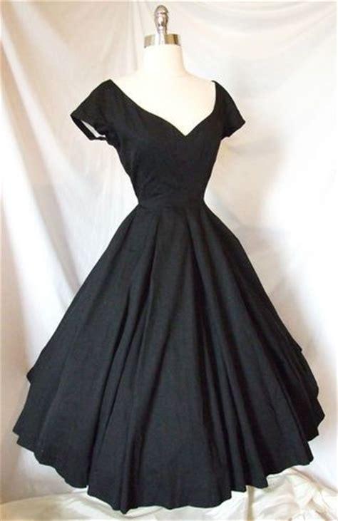 1950 s designer black formal exquisite vtg 1950s cocktail portrait dress black