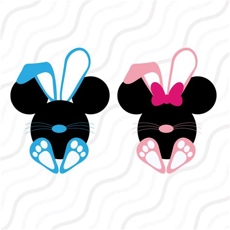 mickey easter disney easter svg mickey easter bunny svg easter svg cut