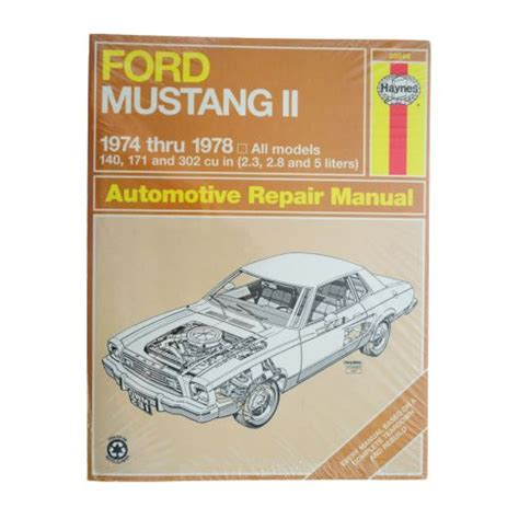 1974 78 ford mustang ii haynes repair manual 1amnl00187 at 1a auto com