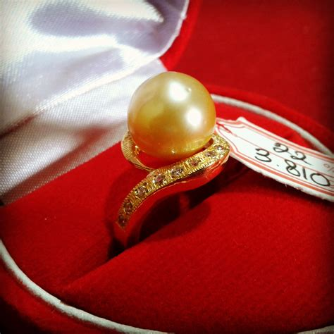 Mutiara Asli Lombok Flower Ring handmade gold ring with south sea pearl cez 11 harga mutiara lombok perhiasan toko emas