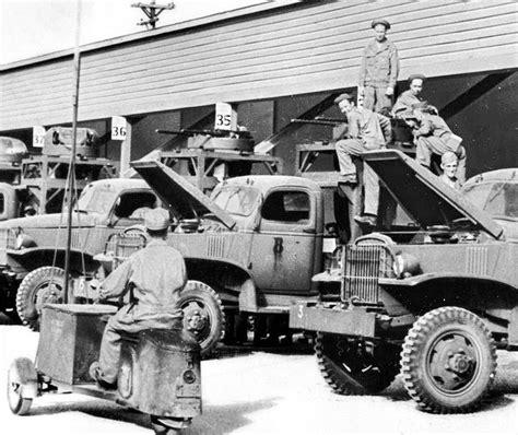 file buckingham army airfield motor pool of machine gun