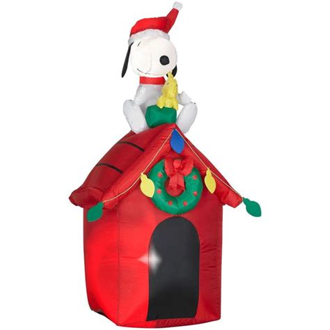 airblown christmas decoration snoopy house inflatable led