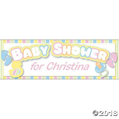 Custom Baby Shower Banners by Personalized Baby Shower Banners Medium