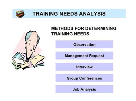 Analysis Methods Workshop On Needs Analysis