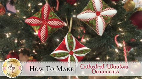 how to make a cathedral window ornament a shabby fabrics christmas sewing tutorial viyoutube