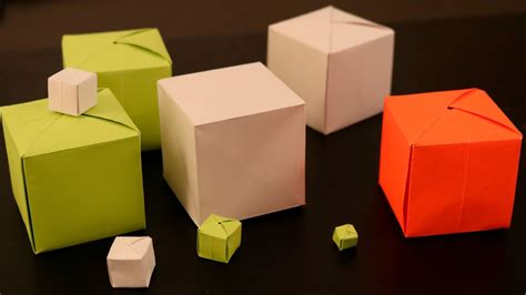 Cube Paper Folding - how to make a paper cube