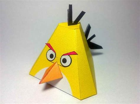 Paper Craft Birds - yellow angry bird papercraft papercraft paradise