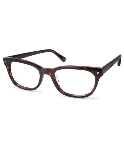 cynthia rowley tortoise square plastic eyeglasses in